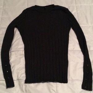 TopShop Ribbed Sweater with decorative buttons